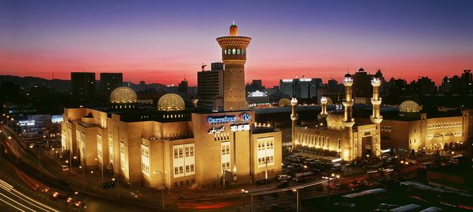 Marché d'Urumqi, grand bazar, xinjiang