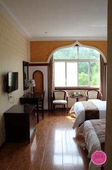 chambre de l'hôtel à mulan caoyuan, chine