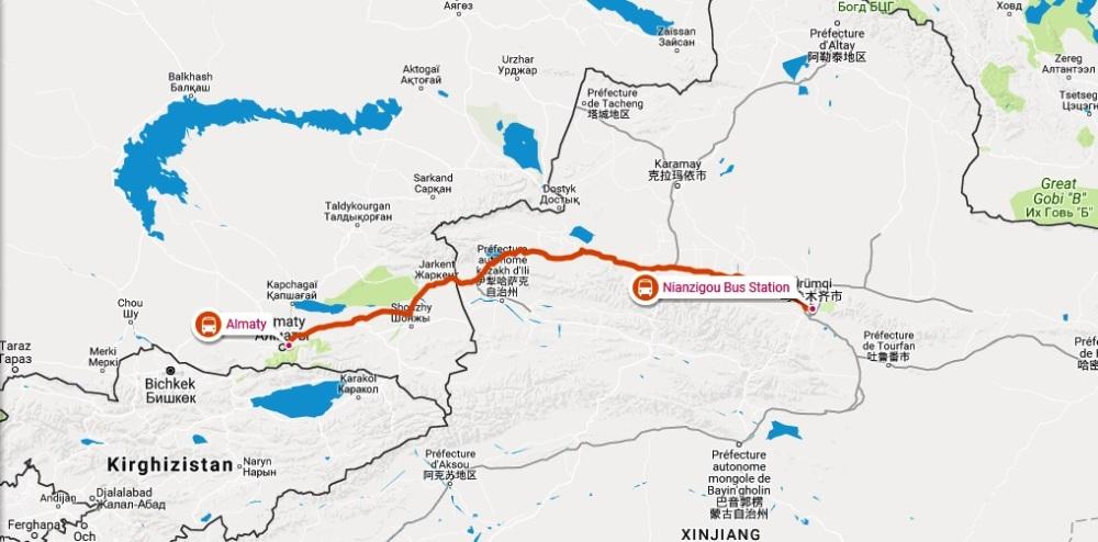 Bus Urumqi - Almaty chine kazakhstan
