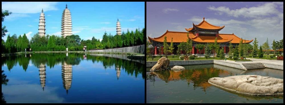 trois pagodes et temple