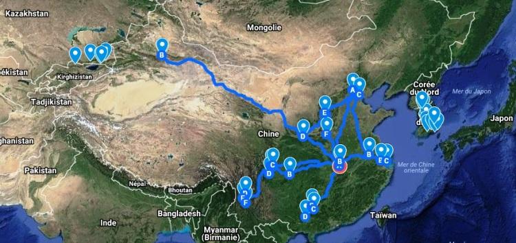 mes voyages durant un an en Chine